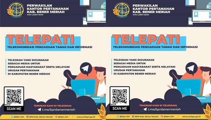 TELEPATI BPN Bener Meriah Meriah tingkatkan mutu pelayan masyarakat.