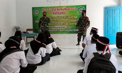 TNI dan Polri Masuk Sekolah Berikan Pendidikan Cinta Tanah Air di MTs SMA Afifiyah