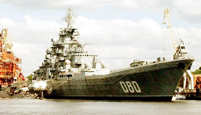 Modernisasi kapal penjelajah nuklir terbesar di dunia milik Rusia.