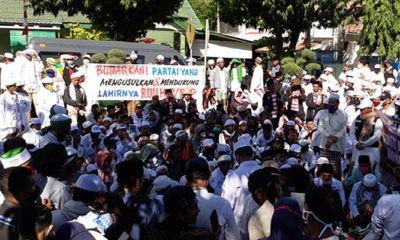 Tolak RUU HIP, ribuan massa FPI kepung Gedung DPRD Sumenep.