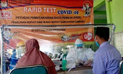 Pastikan sehat, KPU Sumenep Rapid Test PPDP
