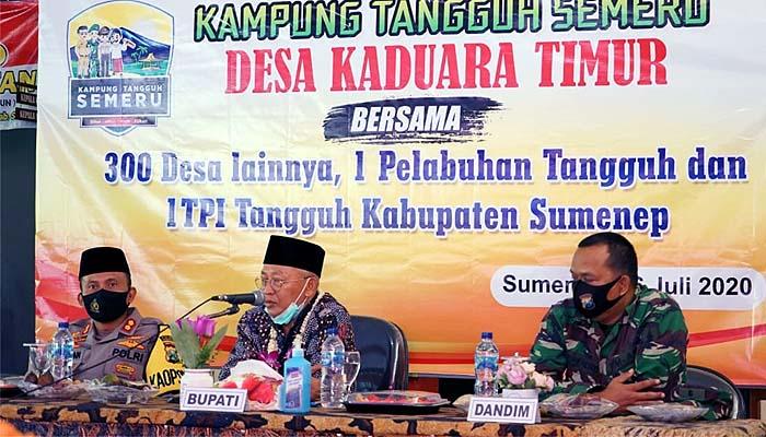 Lawan Covid-19, Bupati Sumenep launching Kampung Tangguh Semeru di Desa Kaduara Timur.