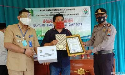 Camat Rubaru aprisiasi Desa Banasare raih Juara III Kampung Tangguh Se-Kabupaten Sumenep di masa pandemi Covid-19.