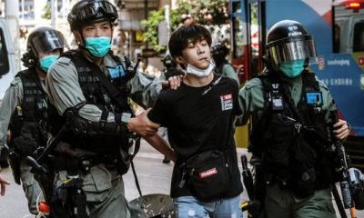 Penangkapan pertama setelah Cina sahkan UU Keamanan Nasional Hongkong.