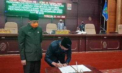 DPRD Nunukan sepakati Raperda Pertanggungjawaban Pelaksanaan APBD 2019.