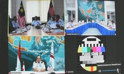 Bakamla RI bahas hubungan kerja sama dengan Pengarah Maritim Malaysia melalui vicon.