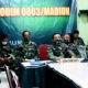 Dandim Madiun ikuti vidcon dipimpin oleh Panglima TNI evaluasi penanganan Covid 19.