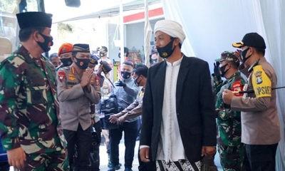 Dandim 0803/Madiun sambut Panglima TNI dan Kapolri di Ponpes Subulul Huda.