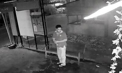 Terekam CCTV pencurian kotak amal Mushalla Istiqomah Kuta-Tuha.