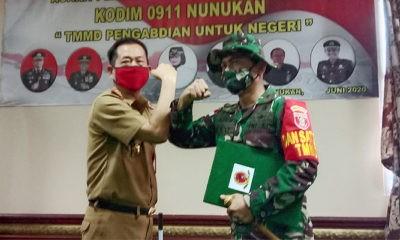 TMMD Wiltas ke 108 Tahun 2020 di Kabupaten Nunukan Resmi Dibuka.