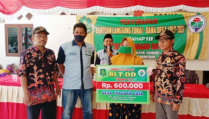 Pemdes Pragaan Daya salurkan BLT-DD Tahap III.