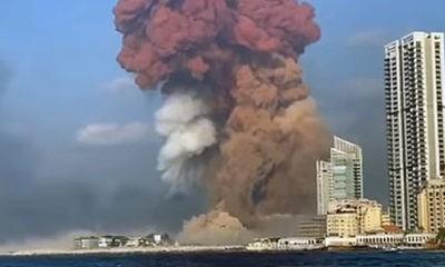 2,7 ton Amonium Nitrat meledak di dekat pusat kota Lebanon.