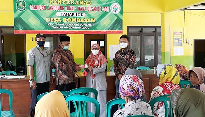 – Pemdes Rombasan salurkan BLT-DD Tahap III.