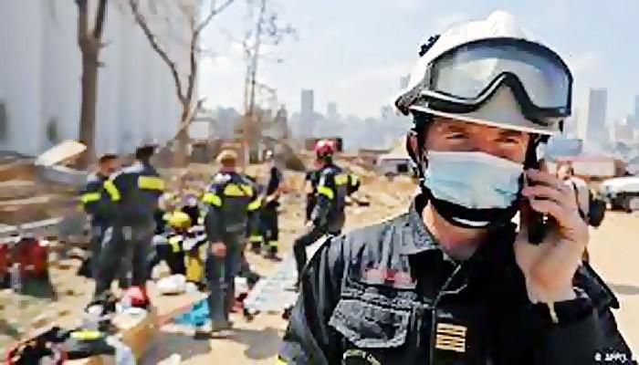 Empat hari setelah ledakan dahsyat di pelabuhan Beirut.