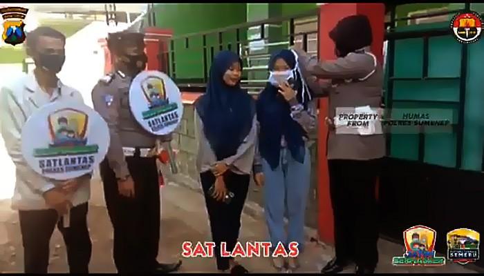 Gerakan Jatim Bermasker Jajaran Polres Sumenep.