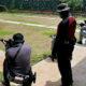 Special Response Team asah kemampuan menembak di Cikeas.