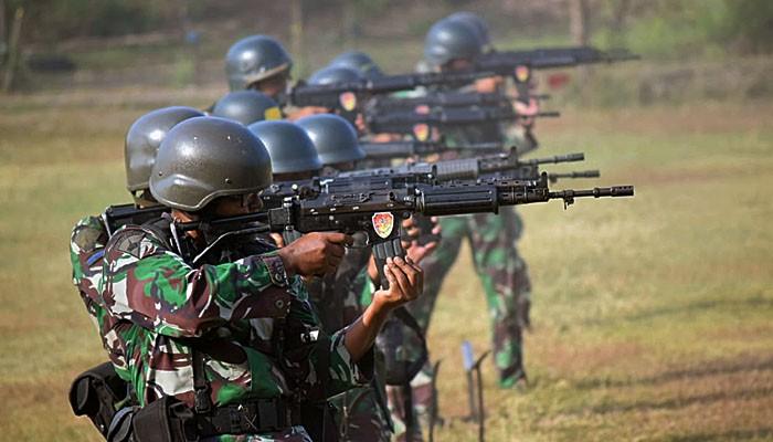Asah kemampuan, Binsat Batalyon Roket 2 Marinir gelar try out menembak internal.