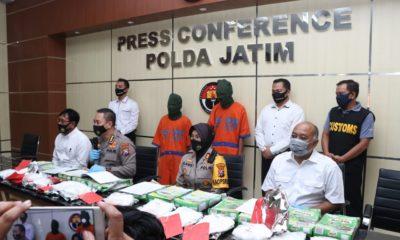 Polres Pelabuhan Tanjung Perak gagalkan penyelundupan sabu 6 kg