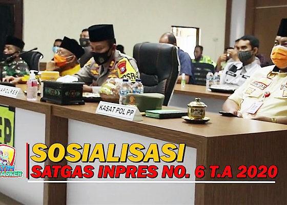 Polres Sumenep gelar patroli skala besar sosialisasi Inpres No. 6 Tahun 2020.