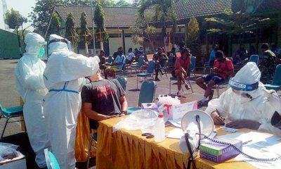 80 personel Korem Bhaskara Jaya jalani swab test.