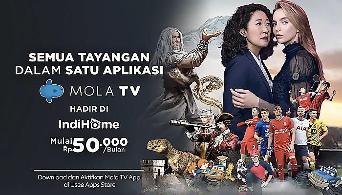 Mola TV App hadir di IndiHome dengan berbagai tayangan liga bergengsi.