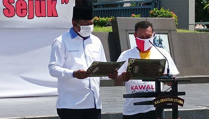 Bakal calon bupati Nunukan berkomitmen cegah penyebaran Covid-19.