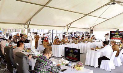 NTB Provinsi Pertama Laksanakan Rakor Penegakan Protokol Kesehatan Pilkada.