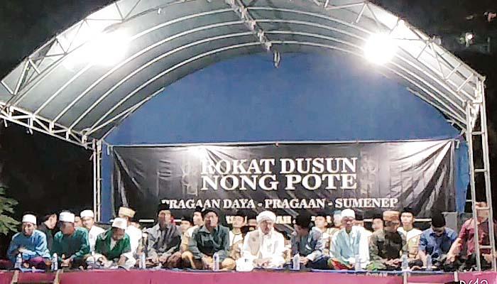 Doa bersama Pemdes Pragaan Daya Gelar Rokat Dusun Nong Pote.
