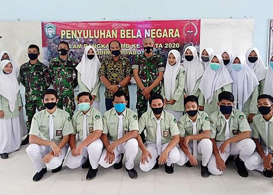 Puluhan Siswa SMP di Abdya dibekali ilmu bela negara