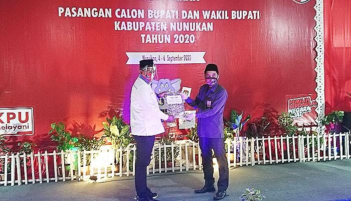 Pasangan DAMAI resmi mendaftar sebagai peserta Pilkada Nunukan.