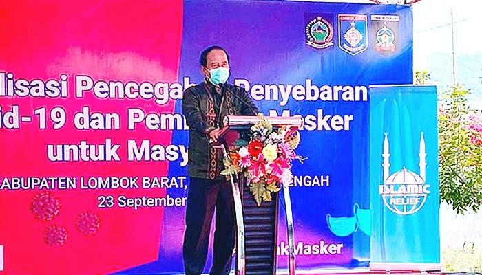 Program Gebrak Masker di Kecamatan Batu Layar Nusa Tenggara Barat.