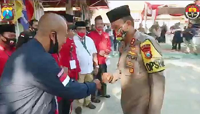 Pengamanan Pendaftaran Bakal Calon Bupati dan Wakil Bupati Sumenep