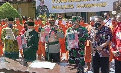 Selama 9 bulan Polres Sumenep berhasil mengamankan 100 tersangka kasus narkoba jenis sabu-sabu,