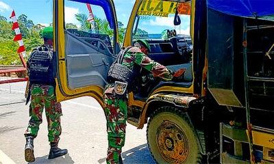 atgas Pamtas Yonif 623/BWU perketat jalur Trans Kalimantan di Nunukan.