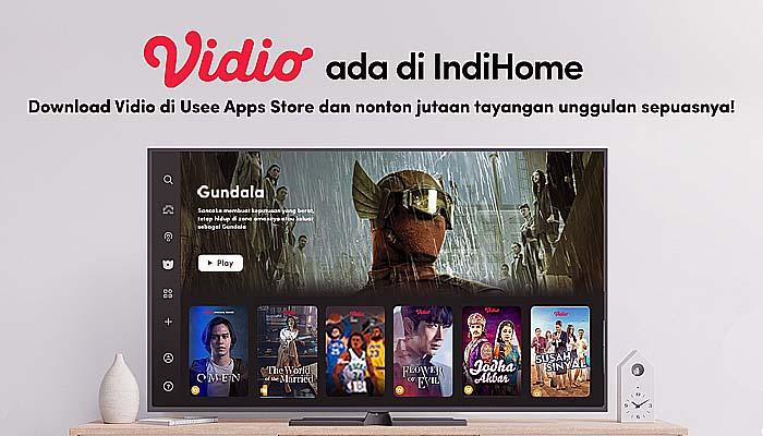 Vidio hadirkan tayangan berkualitas tanpa batas di IndiHome.