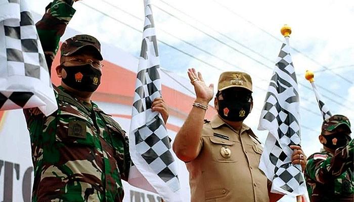 Plt Bupati Nunukan hadiri Binfungstaswilnas Ster TNI di Sebatik. Hari Selasa, (27/10), Plt Bupati Nunukan H. Faridil Murad menghadiri