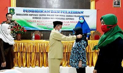 Diskop Sumenep latih pengurus Koperasi Bidang Usaha Simpan Pinjam berbasis syariah.