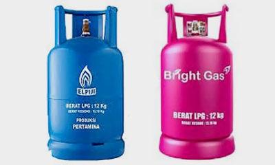 Tabung gas Elpiji 12 kg warna biru akan diganti tabung Bright Gas warna merah muda.