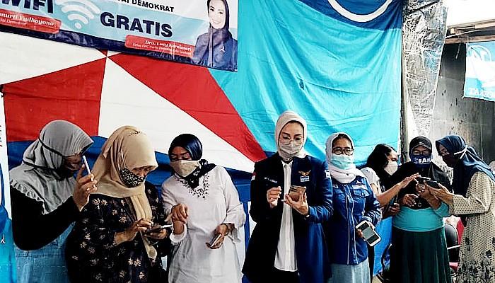 Dibagi di tujuh kecamatan, Demokrat sebar Wifi Gratis untuk masyarakat di Surabaya.