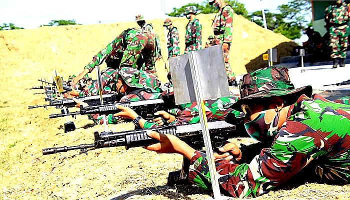Kodim Lamongan menghelat latihan menembak selama dua hari.
