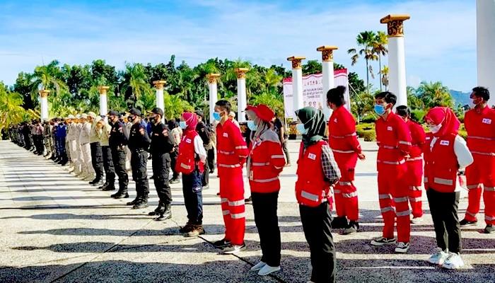 Antisipasi bencana Hidrometeorologi, apel kesiagaan digelar di Nunukan.