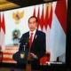 Presiden Jokowi buka Musyawarah Nasional (Munas) Asosiasi Perusahaan Jasa Tenaga Kerja Indomesia (Apjati) di Hotel Grand Mercure Bandung secara virtual pada hari Jumat (27/11),