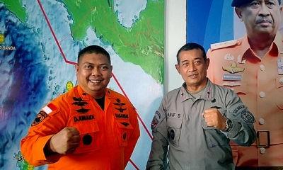 Sinergi dengan Basarnas Ambon, Kamla Zona Maritim Timur perkuat operasi SAR (Search and Rescue).