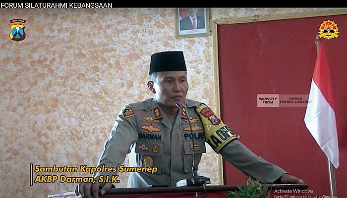 Kapolres Sumenep Menjadi Nara Sumber Kegiatan Forum Silaturahmi Kebangsaan.