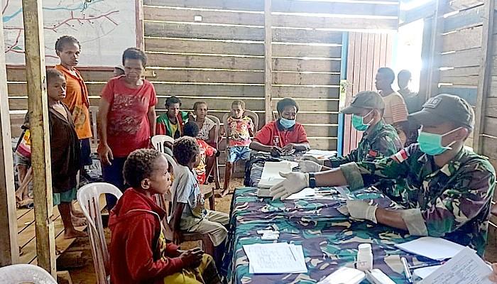 Satgas Yonif Mekanis 516/CY gencarkan mass blood survey.