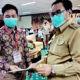 Pemkab Nunukan ikuti pembagian sertifikat tanah presiden Jokowi secara virtual.