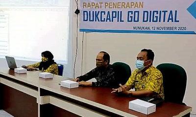emkab Nunukan gelar rapat penerapan Dukcapil Go Digital.