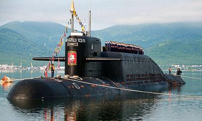 Kapal selam nuklir Akula-I Rusia setelah upgrade.