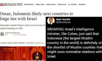 Indonesia diklaim akan buka hubungan diplomatik dengan Israel.