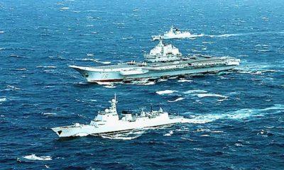 USS Mustin berangkat, armada serang Kapal Induk Cina melintas Selat Taiwan.